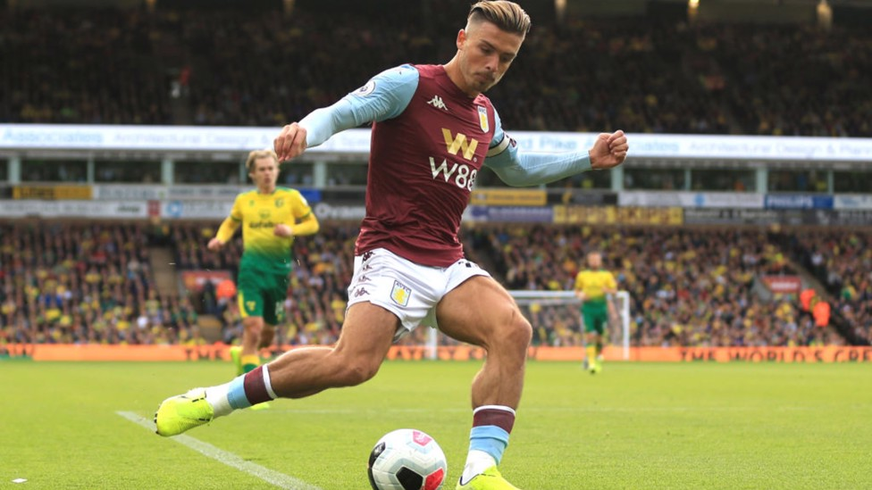 NORWICH NULLIFIED: Grealish grabs his first Premier League goal in four years as Villa beat Norwich City 5-1 in October 2019