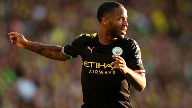 FIGHT TIL THE END : Sterling was trying to force City back into the game.