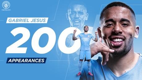 جيسوس يصل إلى 200 مباراة مع مانشستر سيتي