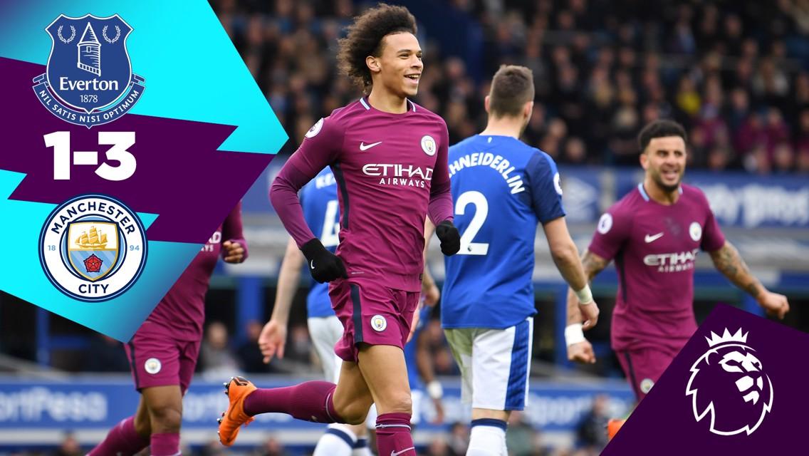 Laga Klasik: Everton 1-3 City