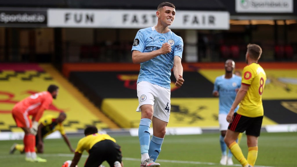 FODEN. : Marcó su octavo gol de la temporada en la Premier League.