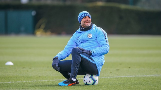 SITTING MIDFIELDER : It looks like the boss took a well earned rest mid-session!