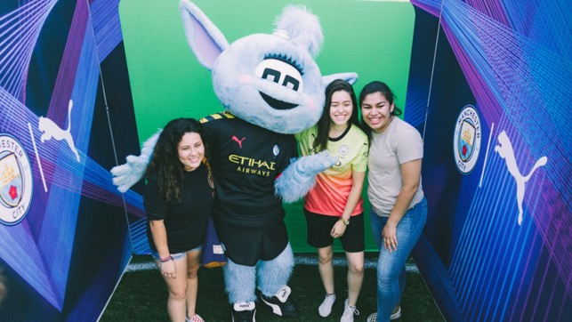 MASCOT : Moonbeam made an appearance in the US.