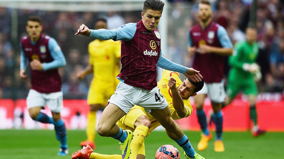 WEMBLEY WONDERKID: Grealish had a hand in both goals as Aston Villa beat Liverpool to reach the 2015 FA Cup final