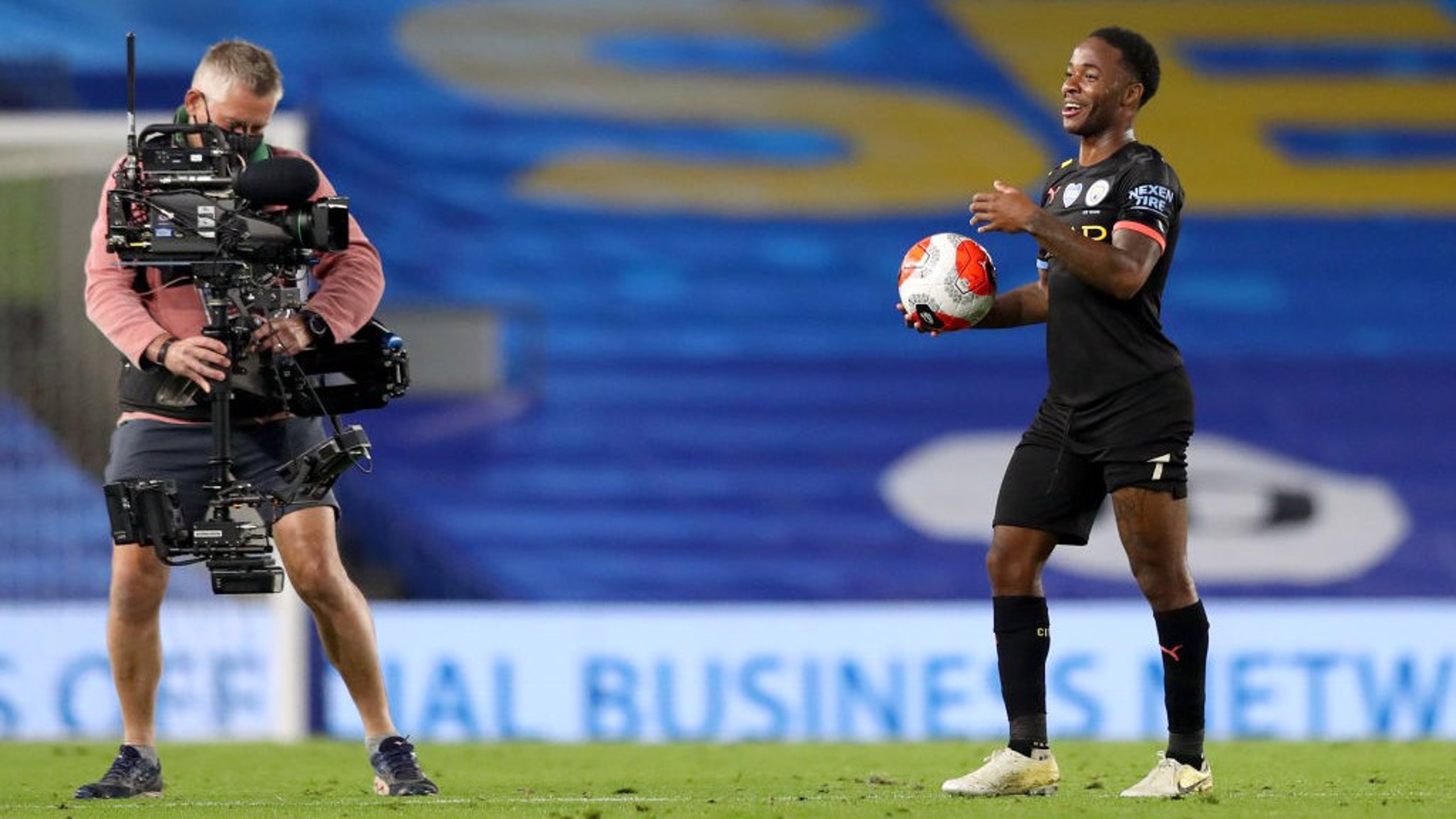 HAVING A BALL: A night to remember for the England winger!