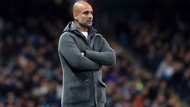 PEP : The boss looks on as we take on Fulham.