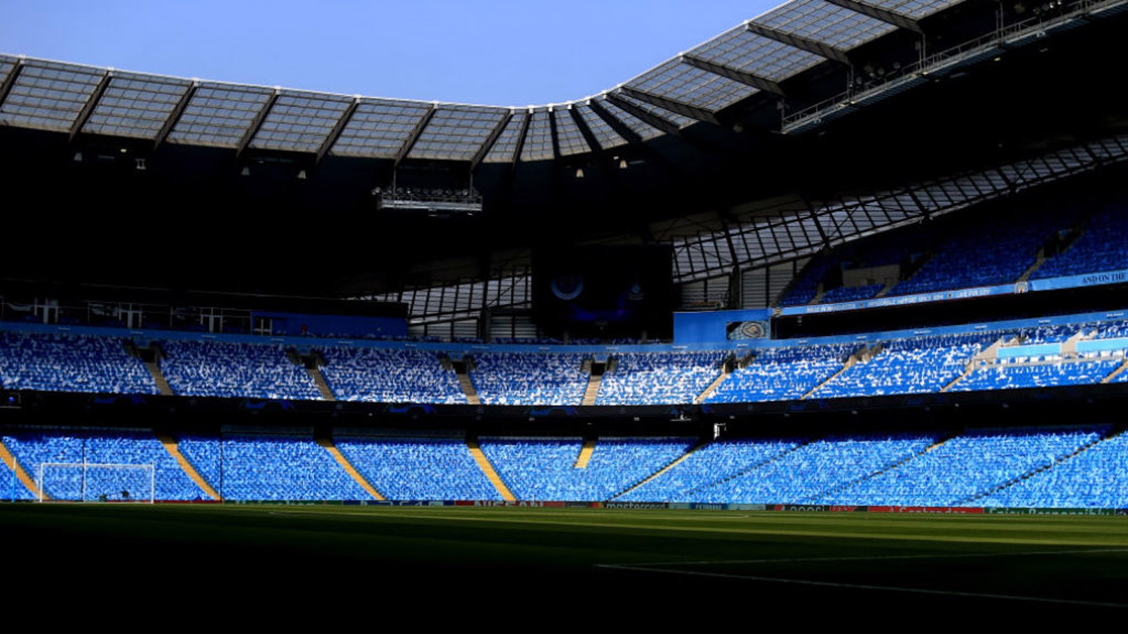CALM BEFORE THE STORM: The Etihad looked stunning in the April sunshine