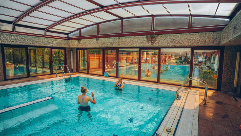 WATERWORLD: The session was a chance for Gareth Taylor's players to unwind from the rigours of Tuesday's season opener away to Real Madrid