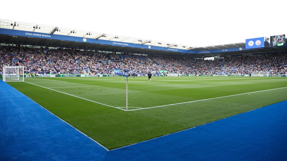 CENTRE STAGE : The King Power Stadium ahead of kick-off