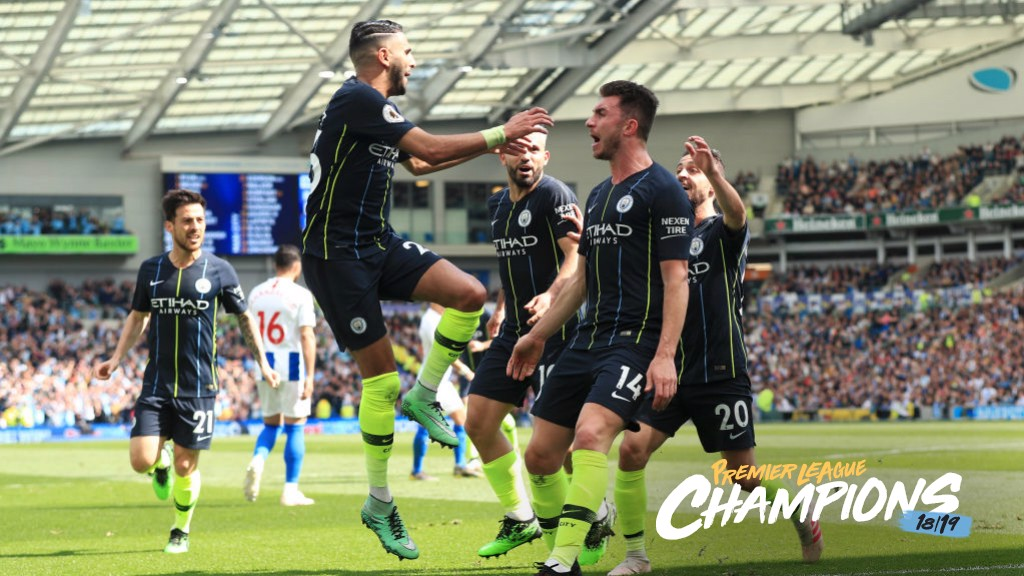 ANOTHER TITLE : City make it back to back titles at Brighton