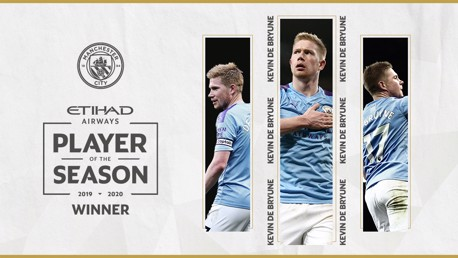 De Bruyne wins Etihad Player of the Season award!