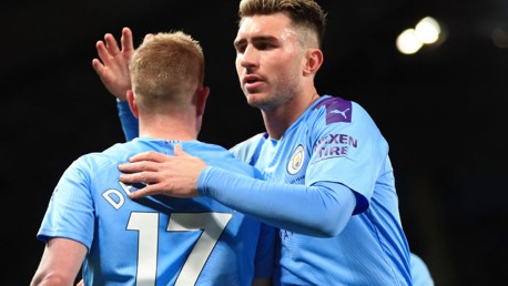 MILESTONES: Kevin De Bruyne and Aymeric Laporte both had personal reasons to celebrate our victory over West Ham.