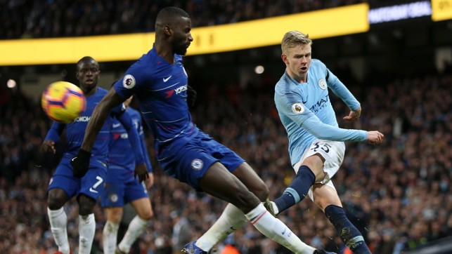 STANDOUT : The 22-year-old turned in a superb display as City beat Chelsea 6-0 in February 2019.