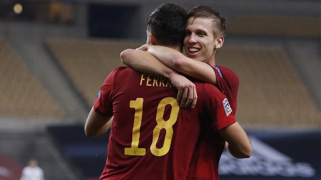 Ferran Torres y Dani Olmo. Aires de renovación en la selección española.
