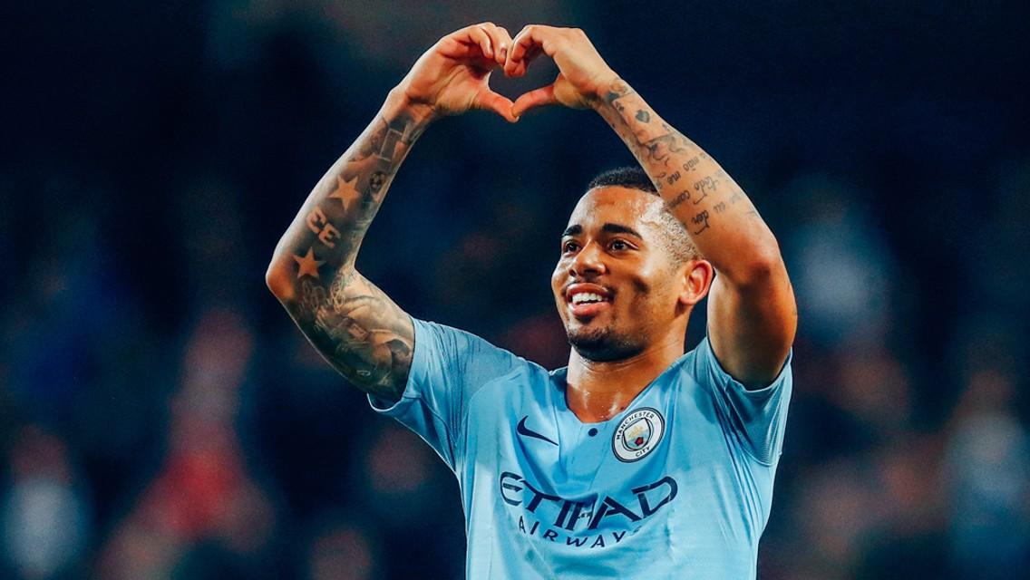 TRUE BLUE: Gabriel Jesus shows City's fans where his heart lies
