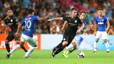 SOLID: Aymeric Laporte started in defence alongside John Stones for the second consecutive game