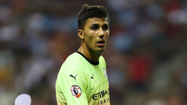 ON THE UP : Rodri is improving by the game, according to Pep