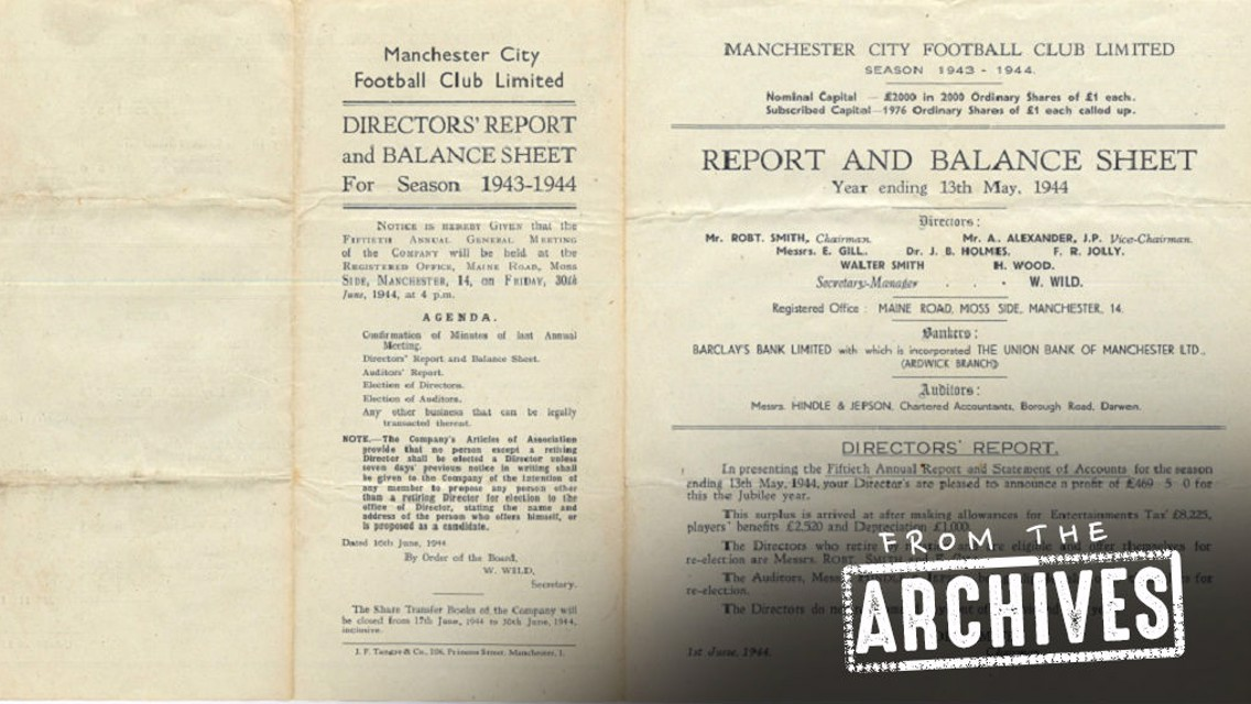 From the Archives: The 1943-44 Board Report