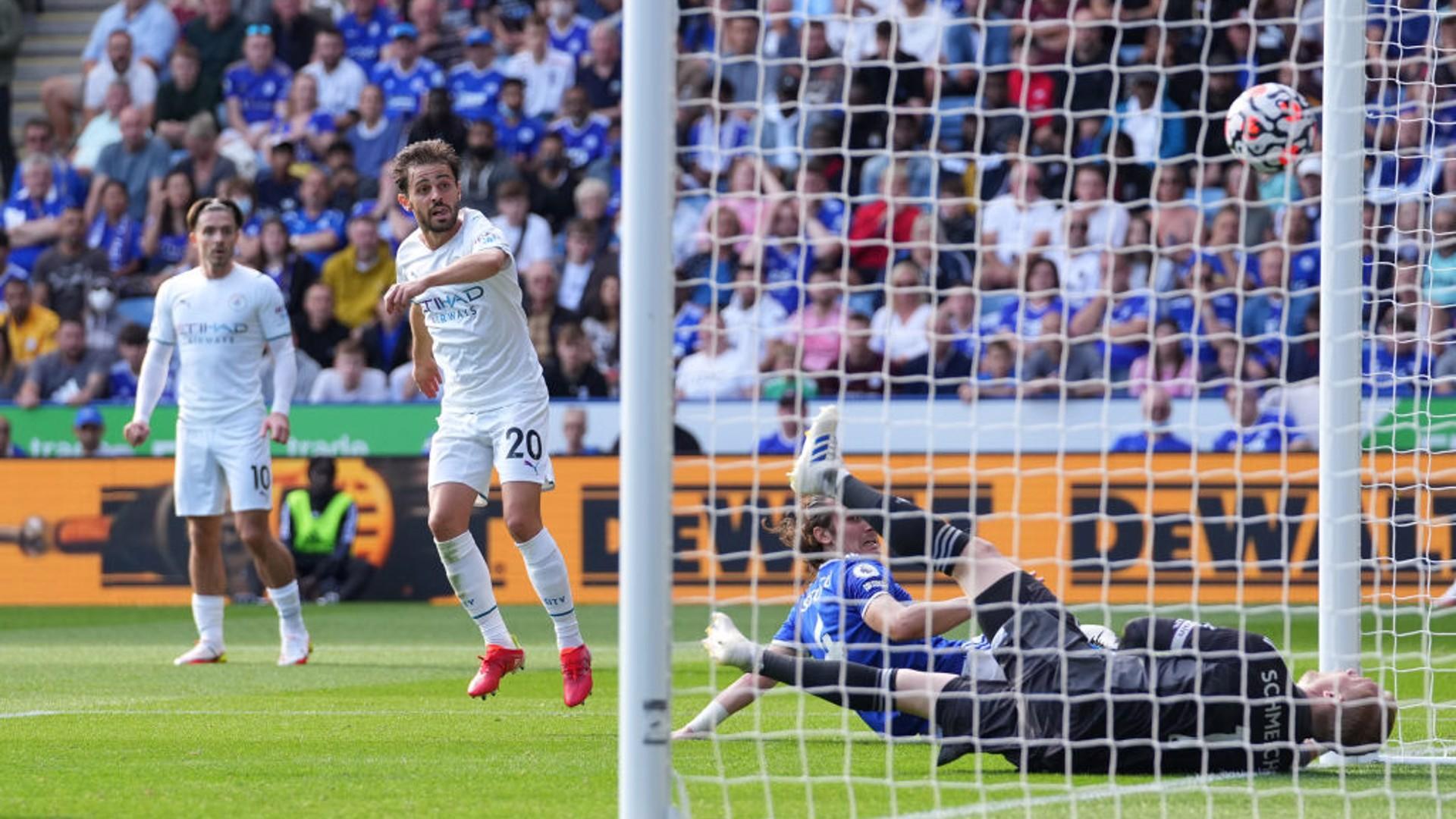 ¡GOL! : Bernardo Silva anotó el tanto de la victoria del City.
