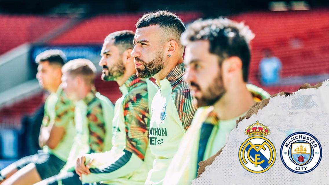 Training: Warming down in the Madrid sunshine