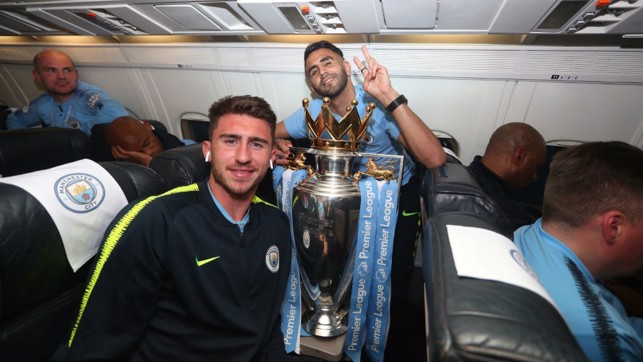 GOLD STANDARD : Aymeric Laporte and Riyad Mahrez both chipped in with vital goals to seal our title success at Brighton