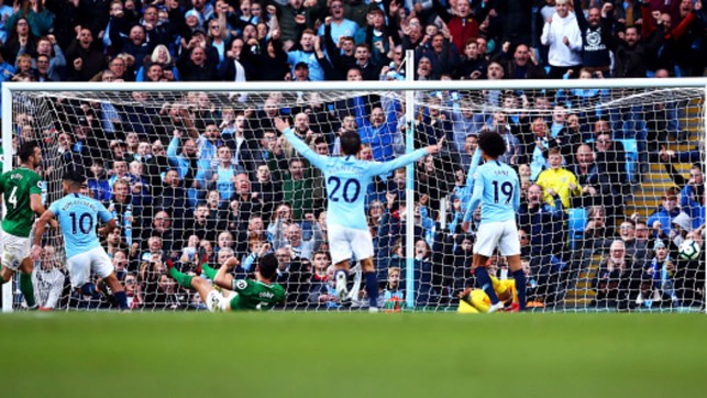 TABLE TOPPERS : City reach the Premier League summit with a 2-0 home win over Brighton