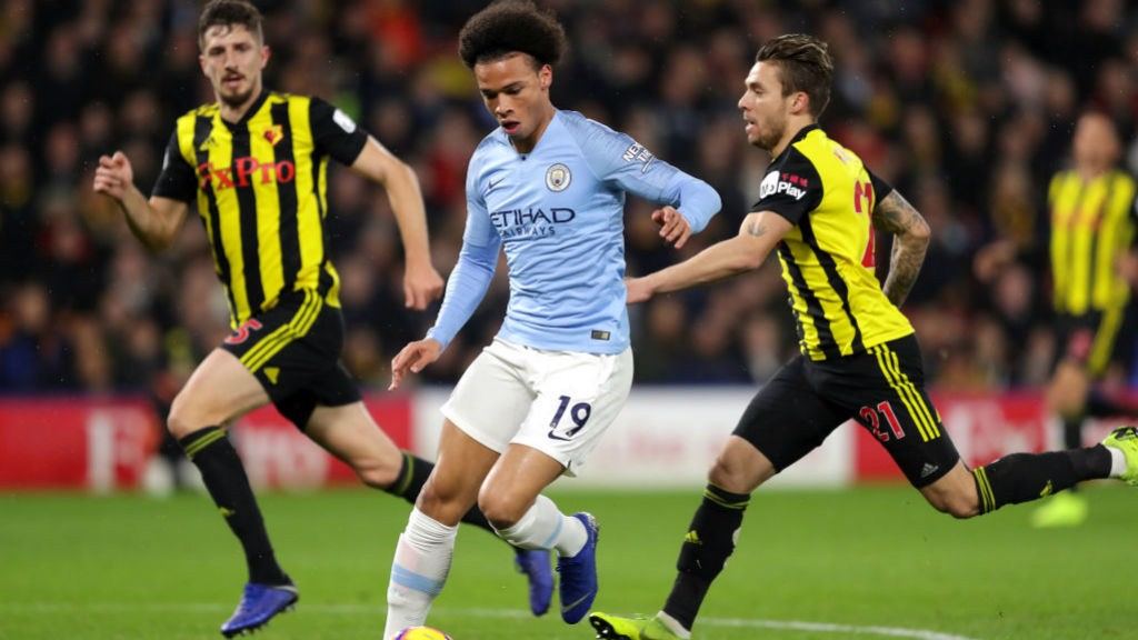 WING WIZARD : Leroy Sane sets off another attacking run