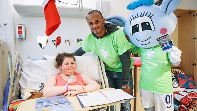 HOSPITAL VISIT : Taking the time to visit some special City fans.