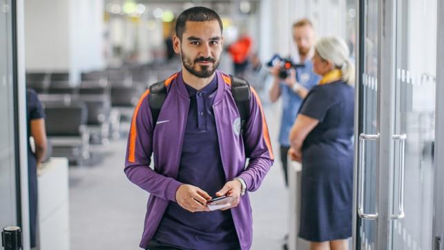 GUNDO : Ilkay steps on the plane ready to return to Germany.