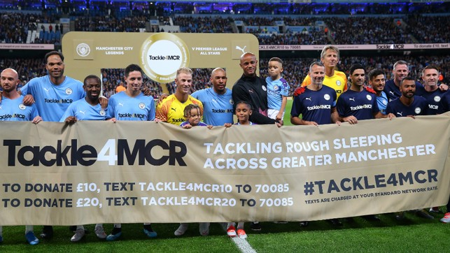 A GREAT CAUSE : All proceeds from tonight's Testimonial will go to Tackle4MCR
