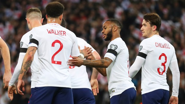 LION HEARTS : Walker and Sterling celebrate
