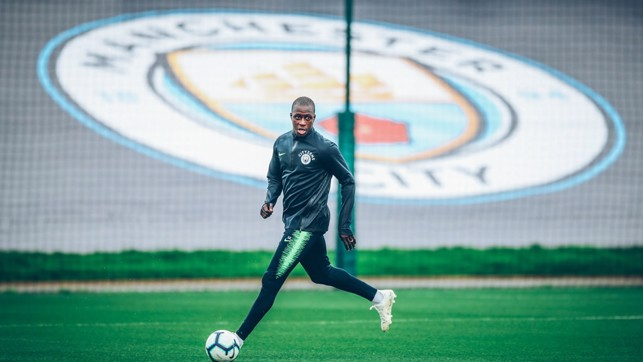 CITY : Mendy prepares for the weekend.
