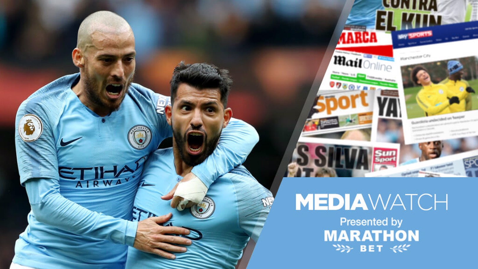 SILVA AND GOLD: David Silva and Sergio Aguero have earned high praise