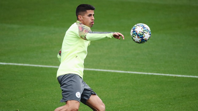 STAR GAZING : Joao Cancelo focuses on the interestingly decorated ball