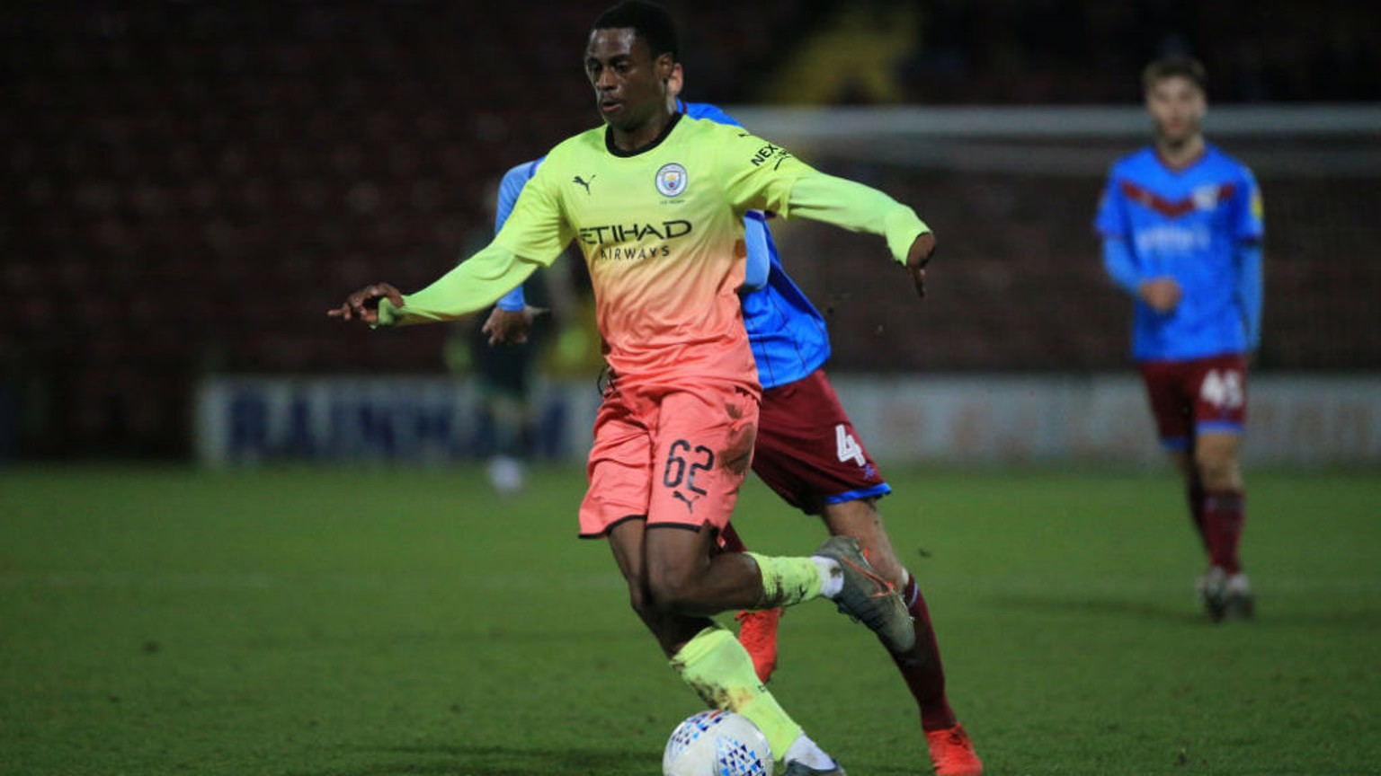 UNLUCKY BREAK: Nathanael Ogbeta was powerless to prevent a Brighton cross deflecting off his leg into the City goal