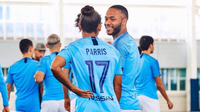 ALL FIRED UP : Nikita Parris and Raheem Sterling's goals have been key factors in our joint success this season