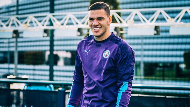 HAPPY TO BE BACK : Ederson flashes a smile our way.