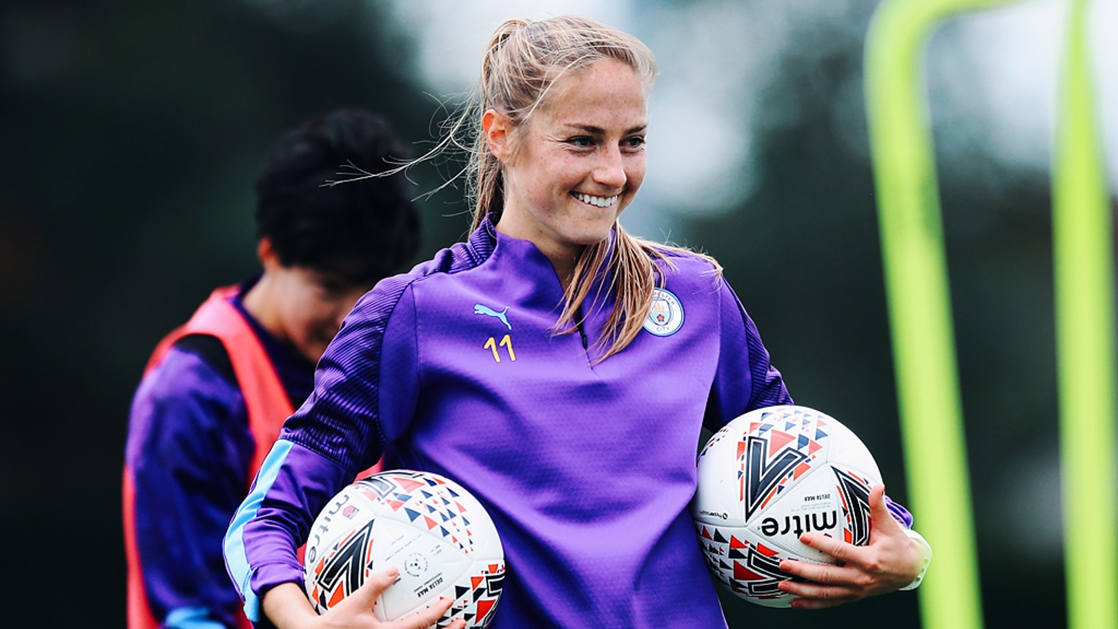 ON THE BALL: Janine Beckie is ready for action
