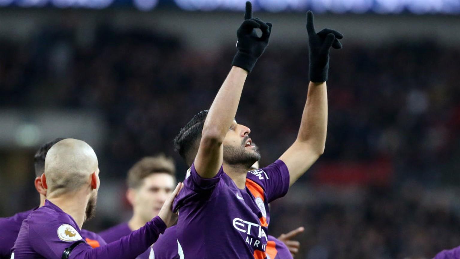 MAHREZ: Riyad celebrates after his early goal.