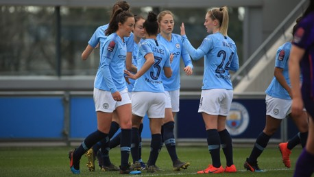 OPENER: City celebrate Janine Beckie's first-half strike