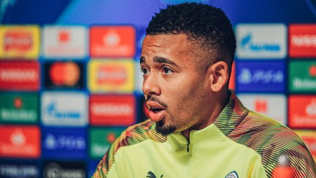 PRE-MATCH: Gabriel Jesus addresses the media ahead of City's game against Shakhtar Donetsk.