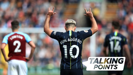 TALKING POINT: Sergio Aguero was once again City's match-winner.