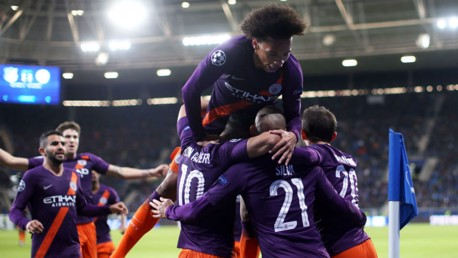 SUPER TUESDAY: The Blues celebrate David Silva's winner