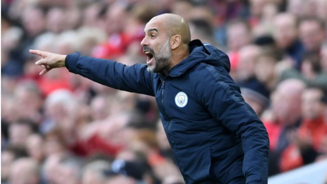 ANFIELD POINTER : Pep Guardiola urges City on