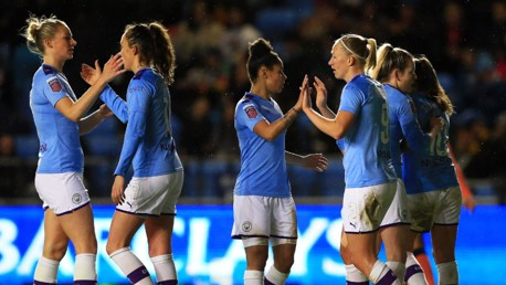 BLUE-HOT BREMER: Pauline Bremer continued her excellent scoring streak against Everton