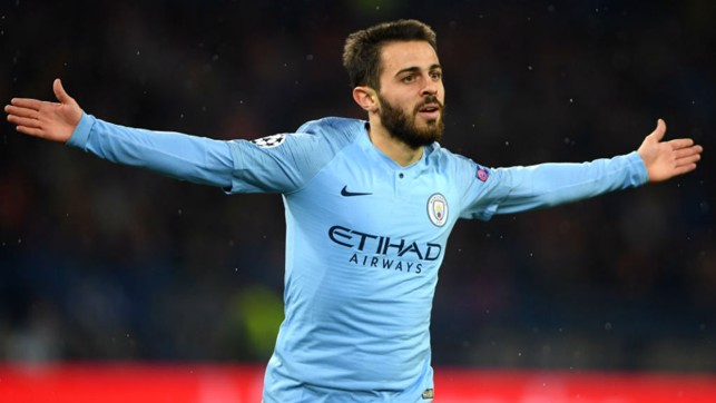 SUDDEN IMPACT : Bernardo Silva celebrates after scoring less than a minute after coming on as a substitute