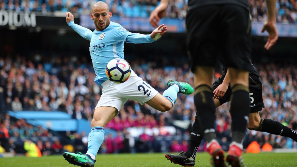 TECHNIQUE : David Silva fires City into an early lead against Swansea last season