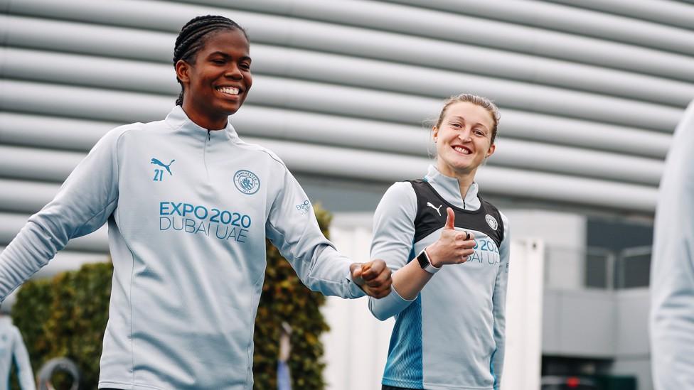 HAPPY BUNNY : Khadija Shaw scored her first City goal against Everton!