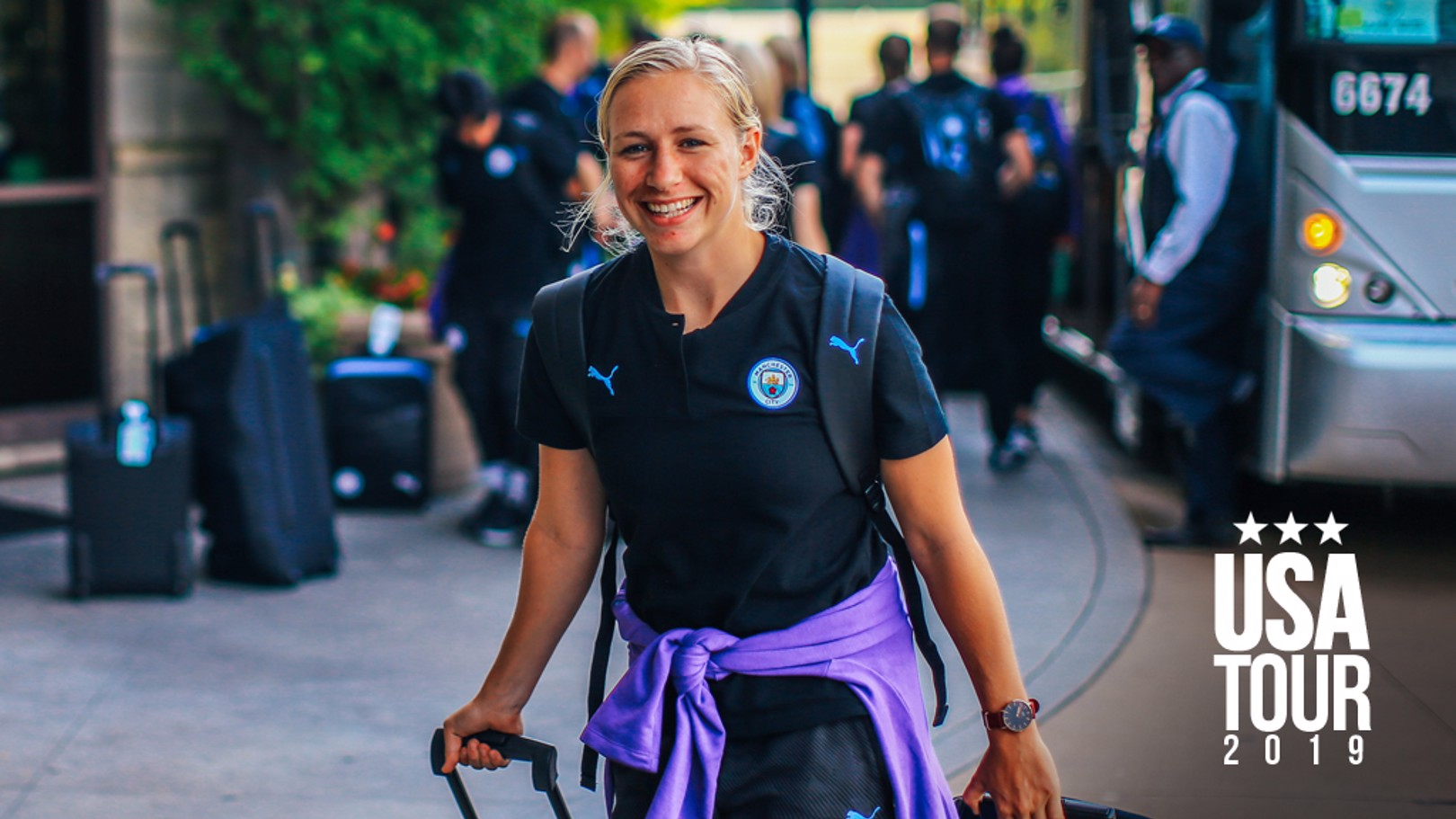 BUZZING BREMER: A buoyant Pauline Bremer, having put her injury woes behind her