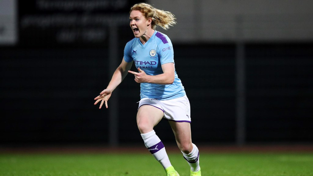 AOIFE ECSTASY : Aoife Mannion celebrates her first City goal